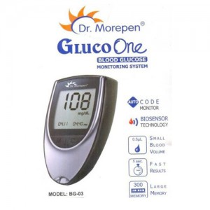 Dr. Morepen Glucose Monitor with 25 Test Strips