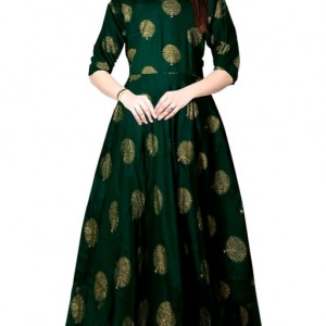 Trendy Women Stylish Rayon Long Gowns