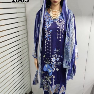Women's Lawn Collection Top Bottom Dupatta Lawn Collection