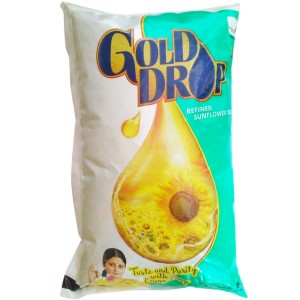 Gold Drop Refined Oil – Sunflower, 1 L Pouch