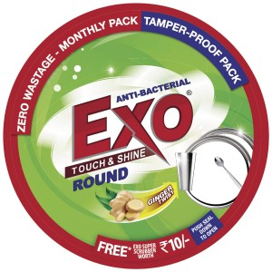 Exo Round Dish Wash Bar, 700g Box with Free Scrubber