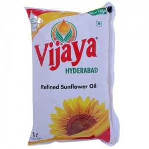 Vijaya Refined Oil – Sunflower, 1 L Pouch
